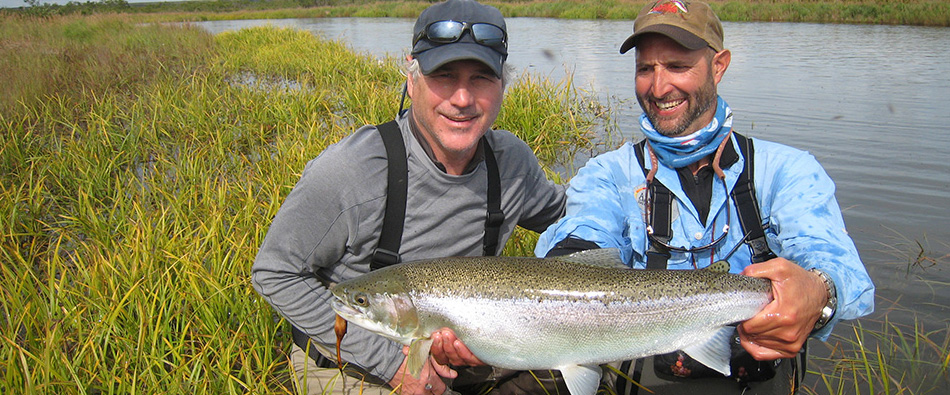 fly-fishing for monster King, silver and sockeye salmon in Alaska with Jose Marti