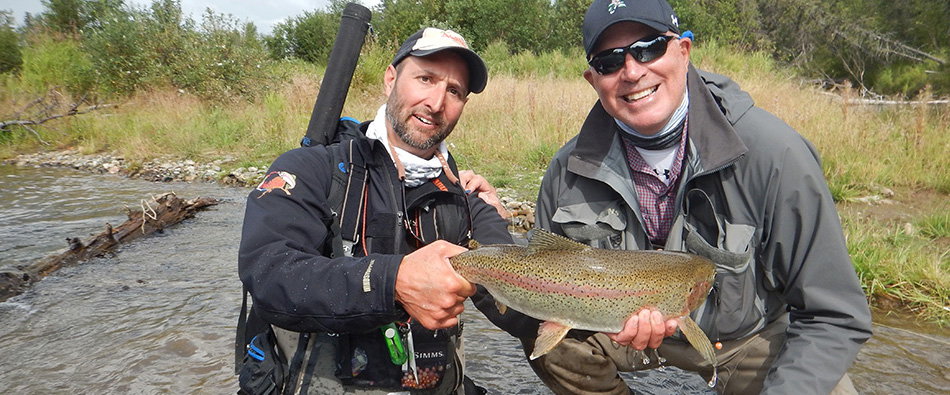 guided fly fishing for jumbo trout in Alaska with Jose Marti