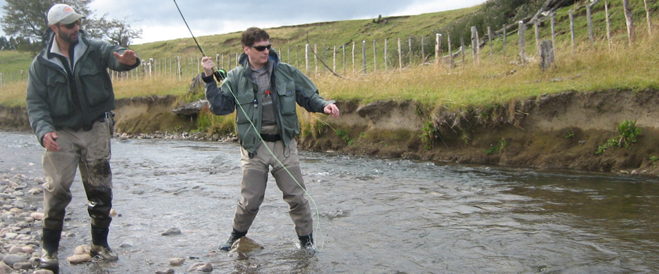 guided fly fishing in the rivers and streams of , Chile with Jose Marti